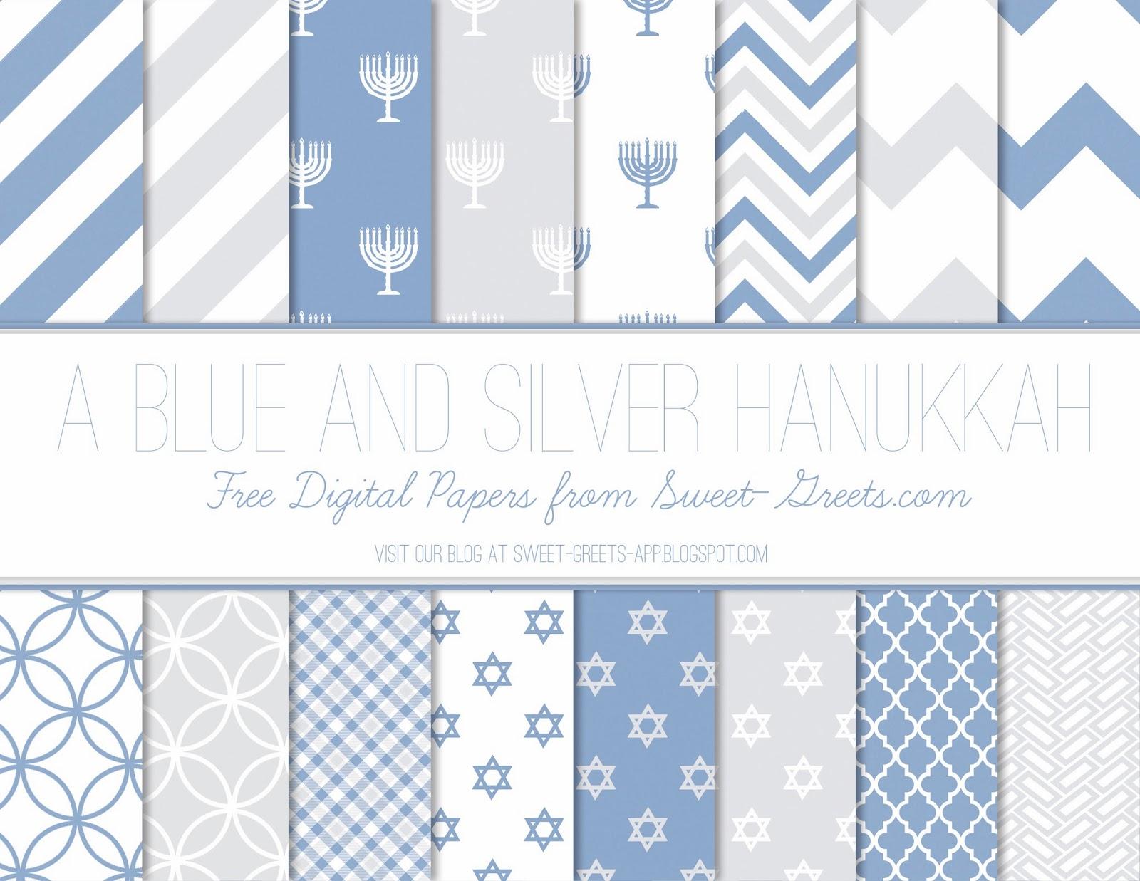 Free Hanukkah Digital Paper