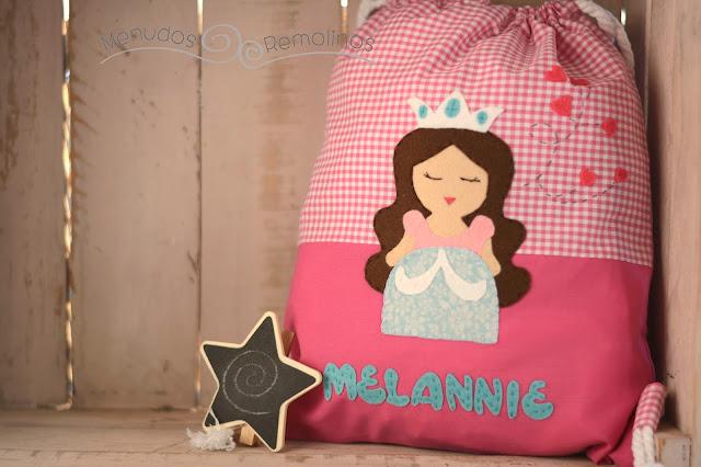 Bolsa de merienda princesa