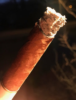 Burn line on the cigar
