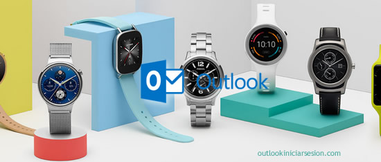 reloj inteligente en outlook iniciar sesion