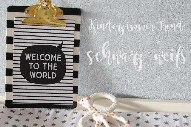 Kinderzimmer Trend Babyzimmer schwarz weiss pastell Nestbau mit tausendkind und Jules kleines Freudenhaus
