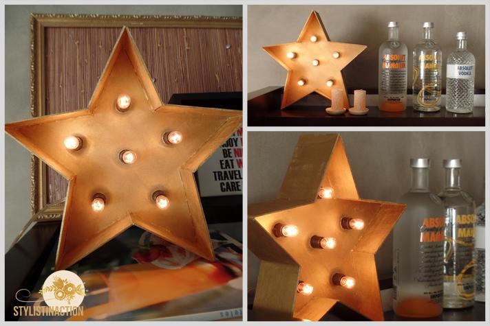 DIY para hacer una estrella de marquesina o marquee light. Es muy facil. La estrella terminada queda buenisima