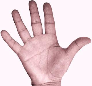 La N en la mano