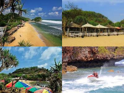 keindahan pantai indrayanti yogyakarta