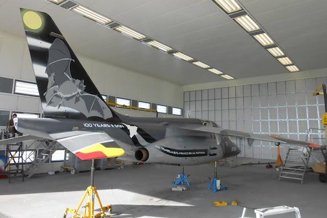 Belgian unveils Dark Bat Alphajet