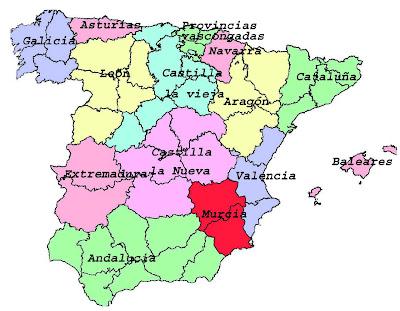 Resultado de imagen de M. divisiones administrativas España despues J. Burgos
