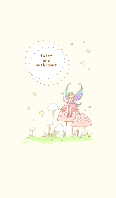 fairy and mushrooms