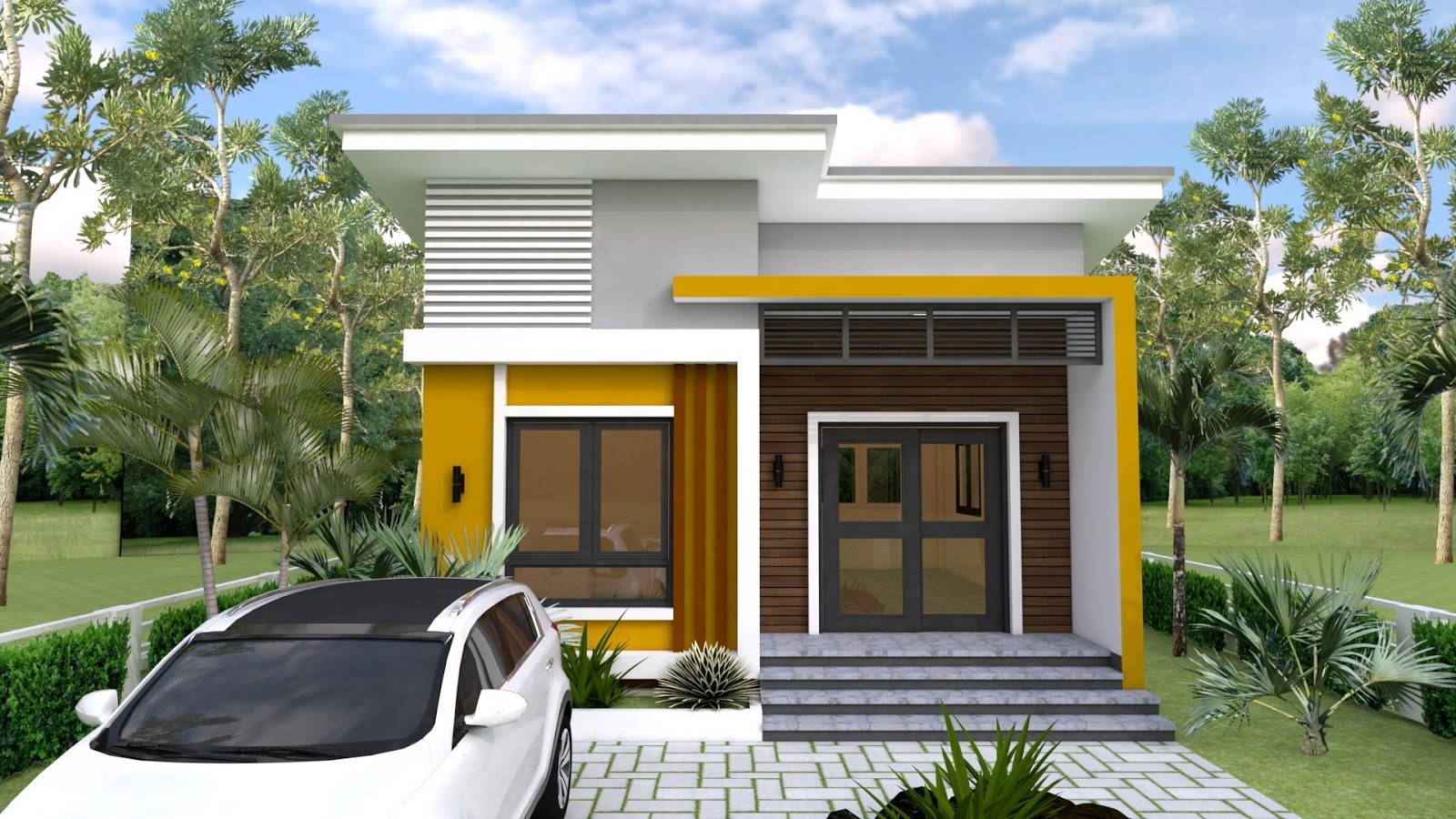 02 - Get 2 Bedroom Small House Plan Design Background