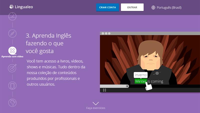 Lingualeo aprenda inglês online
