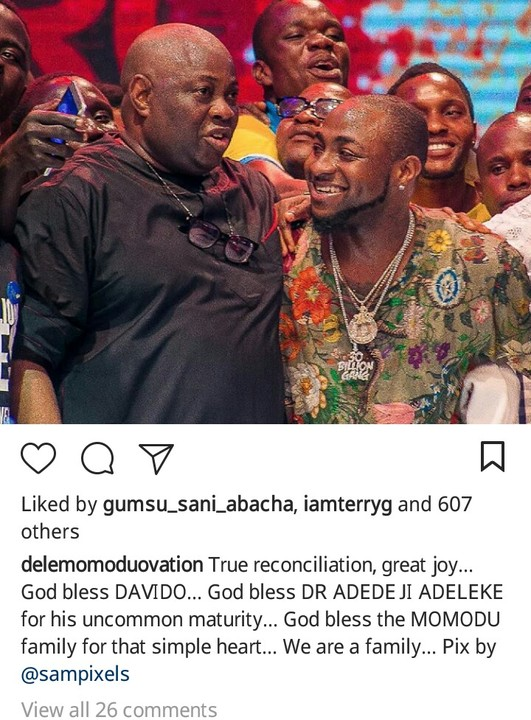 4 - FINALLY! Davido Publicly Apologizes To Dele Momodu As They End Their Beef (Photos)