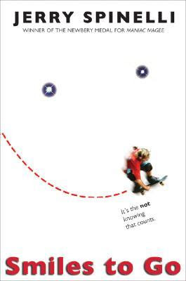 Smiles to Go by Jerry Spinelli is a realistic juvenile/children's literature book great for 5th-8th graders boys or girls.  I think avid readers or science driven kids/students will enjoy this the most.  Alohamora Open a Book http://www.alohamoraopenabook.blogspot.com/ book kid lit, fast read, StarGirl author, protons, skateboards, boy/girl relationships