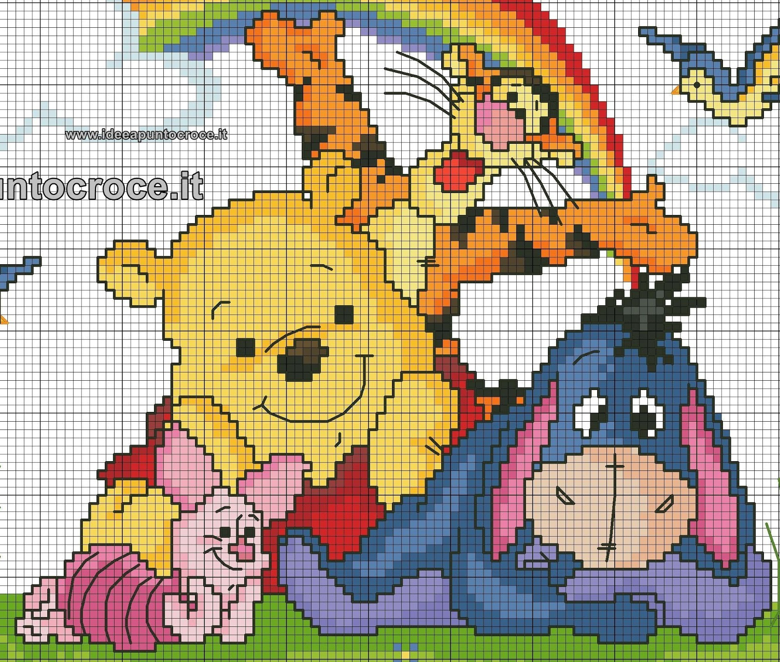 schemi disney a punto croce schemi baby winnie the pooh