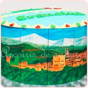 Tarta fondant Granada