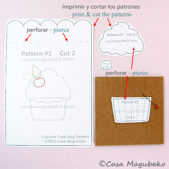 Cupcake Treat Bag Tutorial by casamagubako.com