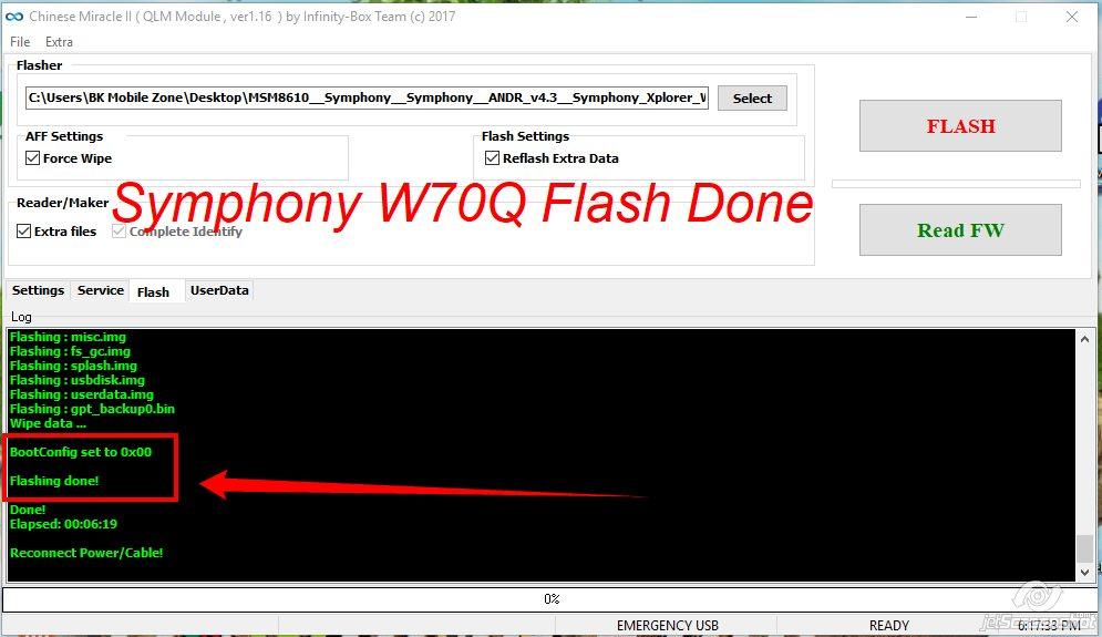 symphony w70q flash file