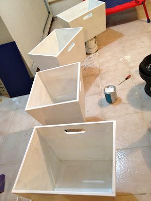 primed wood bins