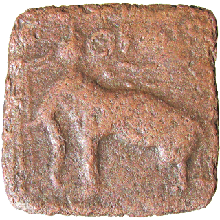 [SCR004] Sangam Age Cheras - Square copper coin