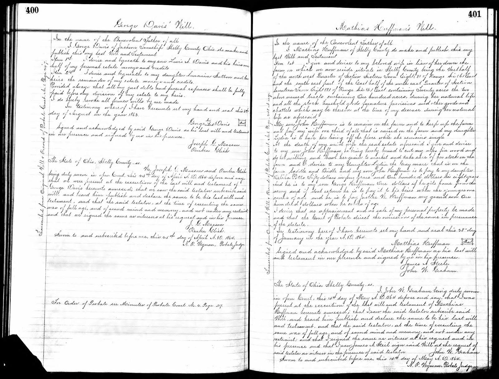 Veteto Family Tree: George Davis 1783-1863