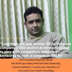 SEO Analyst and SEO Content Quotes by SEO Consultant Momenul Ahmad, Founding Owner of https://www.seosiri.com