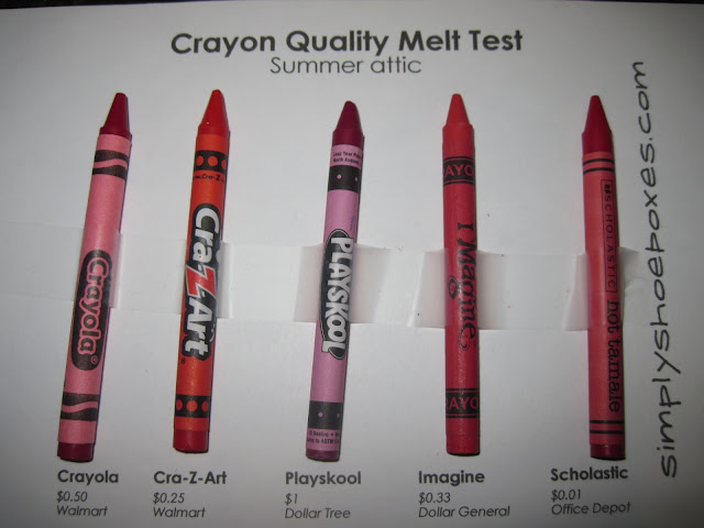 Simply Shoeboxes Crayon Brands Heat Stress Test Will