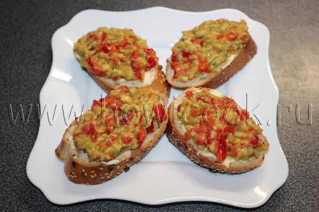 рецепт закуски с креветками и пасты из авокадо с пошаговыми фото