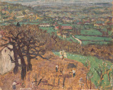 Dauphine Landscape by Pierre Bonnard - Landscape Paintings from Hermitage Museum