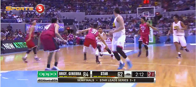 HIGHLIGHTS: Ginebra vs. Star Hotshots (VIDEO) February 19 / Semis Game 6
