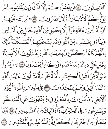 Tafsir Surat Ali Imron Ayat 111, 112, 113, 114, 115