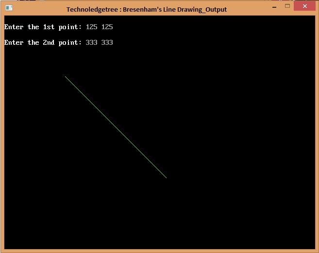Write a C program for BRESENHAM's Line Drawing Algorithm