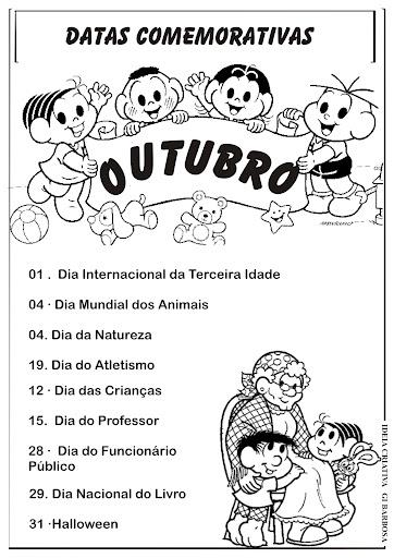 Datas Comemorativas Outubro Arquivo Ilustrado