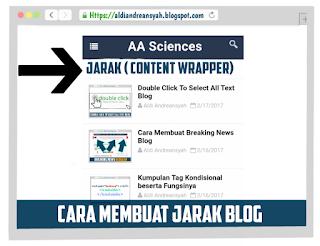 Membuat Jarak Blog