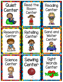 Center labels for third Grade