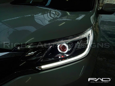 custom headlamp honda crv turbo 2016