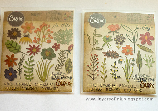 Layers of ink - Flower Power Tag Tutorial by Anna-Karin Evaldsson with Tim Holtz Sizzix Funky Floral
