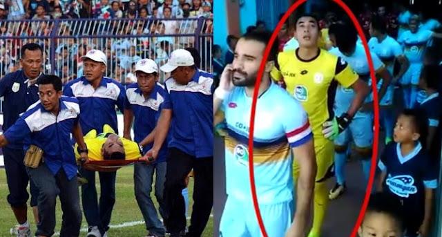 Bikin Merinding! Video Detik-detik Choirul Huda Masuk Lapangan, Netizen: Anak Itu Lihat Malaikat Izrail?
