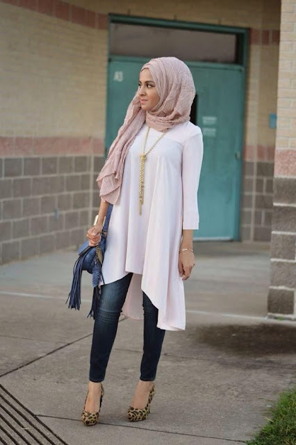 short tunic with hijab style