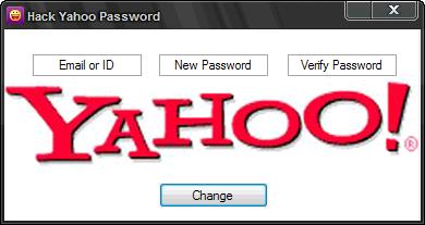 Yahoo messenger password hack.