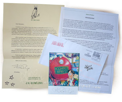 J.K. Rowling Autograf List  Joanne Murray