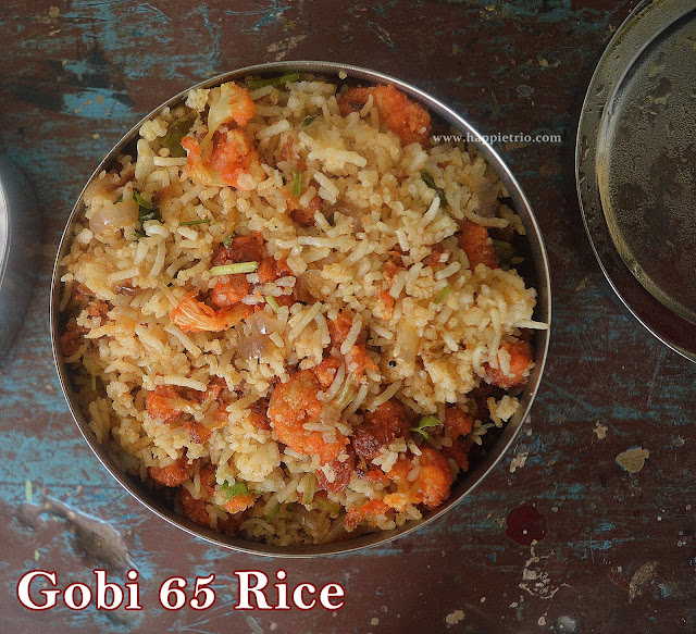 Gobi 65 Rice Recipe | Crispy Fried Cauliflower Rice