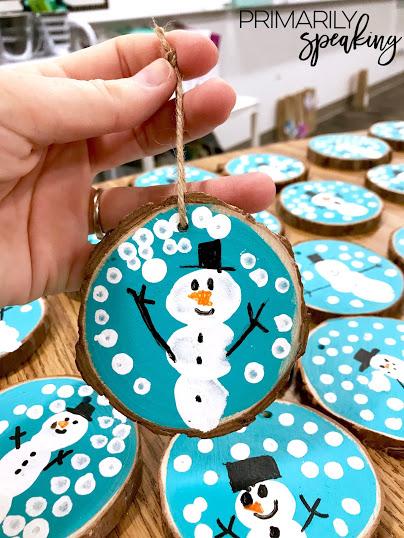 snowman ornaments tutorial