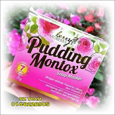 pudding montox soap masker