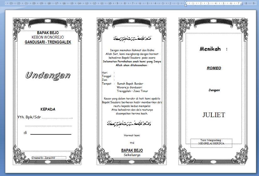 Format Undangan Syukuran Pernikahan Word Rent Interpretomics Co