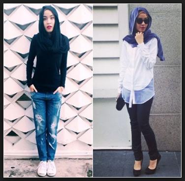 Style hijab anak muda simpel