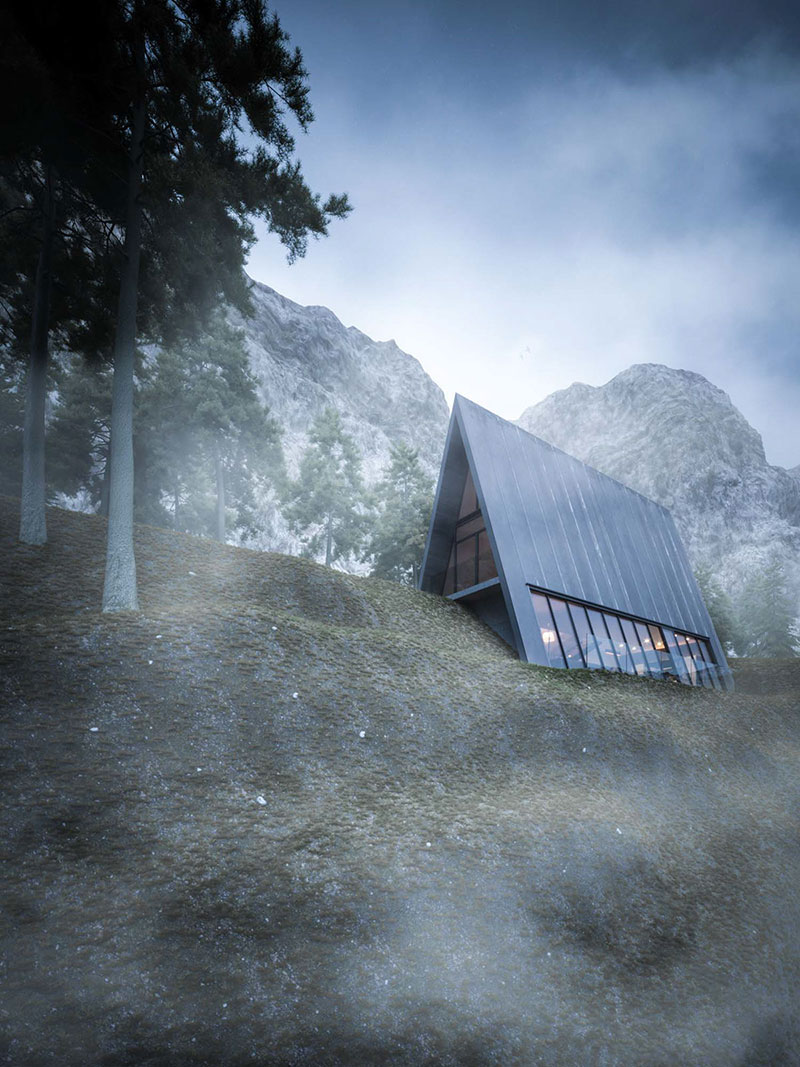 Triangle Cliff House by Matthias Arndt