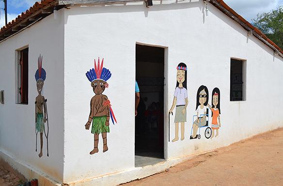 Em Inhapi/AL, MPF vistoria escola improvisada por indígenas Koiupanká