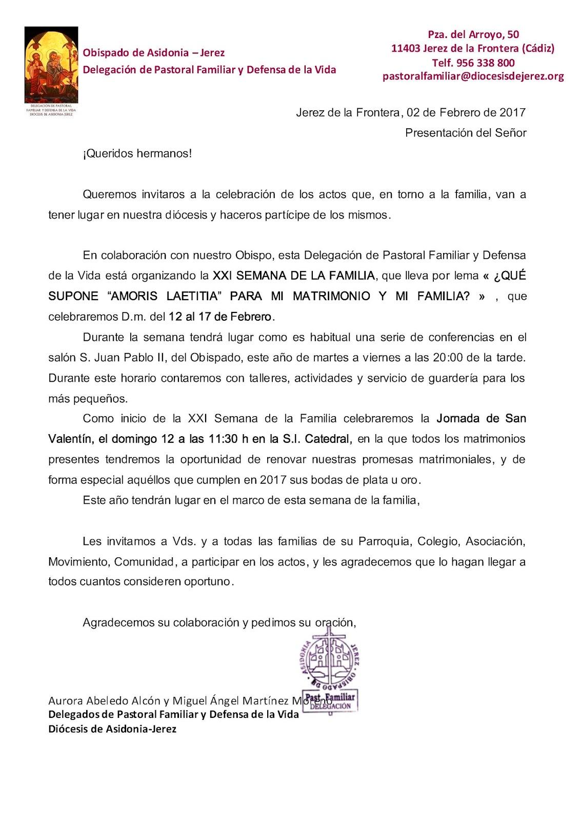 Noticias de Asidonia-Jerez: XXI Semana de la Familia