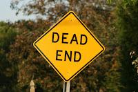 Dead end warning