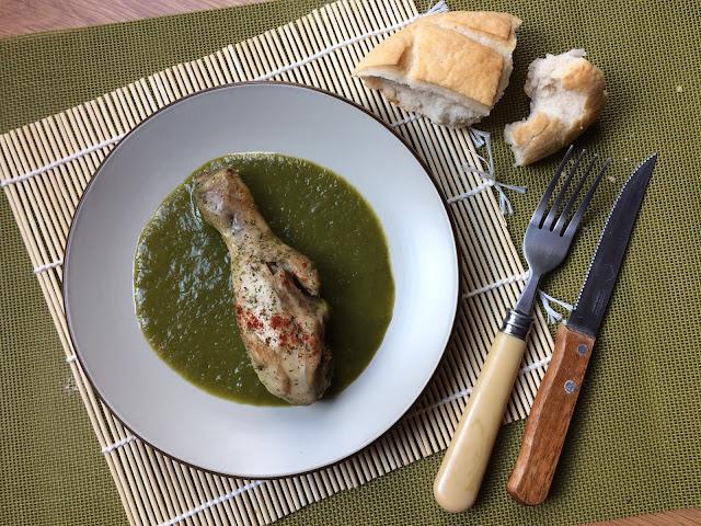 jamoncitos de pollo en salsa de pimiento verde receta