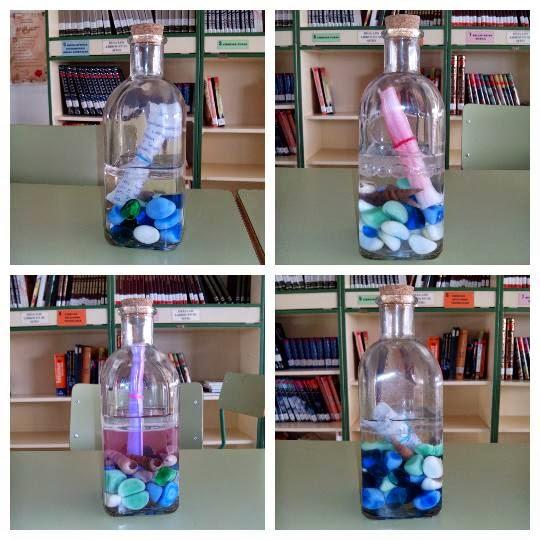 Resultado de imagen de botellas llenas de piedras
