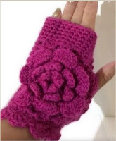 Woman's size, crochet, fuchsia merino, andrea designs handmade mittens, winter wear, must have gift, the fuchsia fingerless gloves